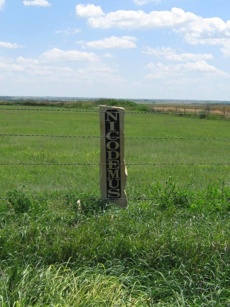 Nicodemus Cemetery gate photo