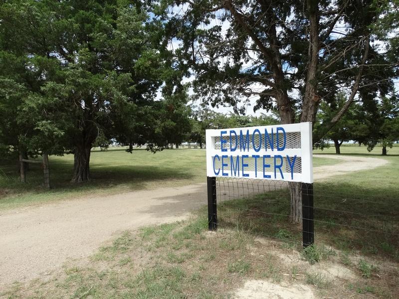 Photo of Edmond Cemetery sign