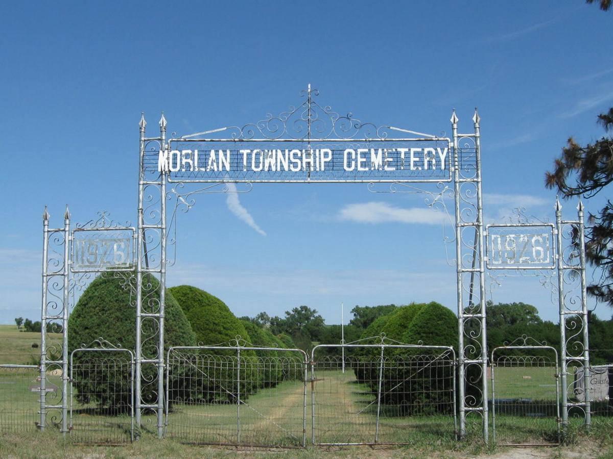 Cemetery gate photo