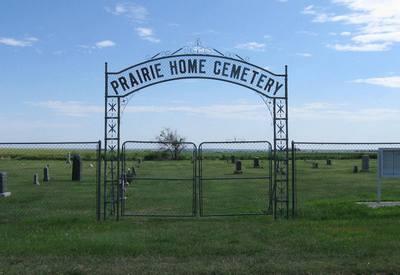 Photo of Prairie Home Cemetery gate
