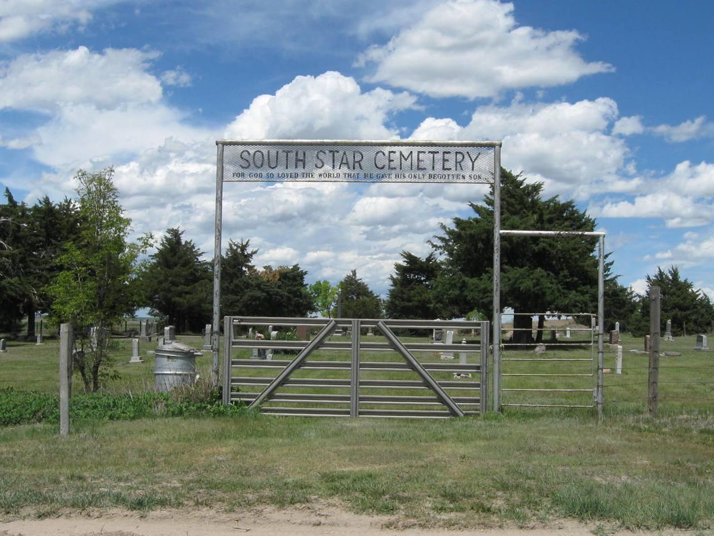 South Star Cemetery gate photo