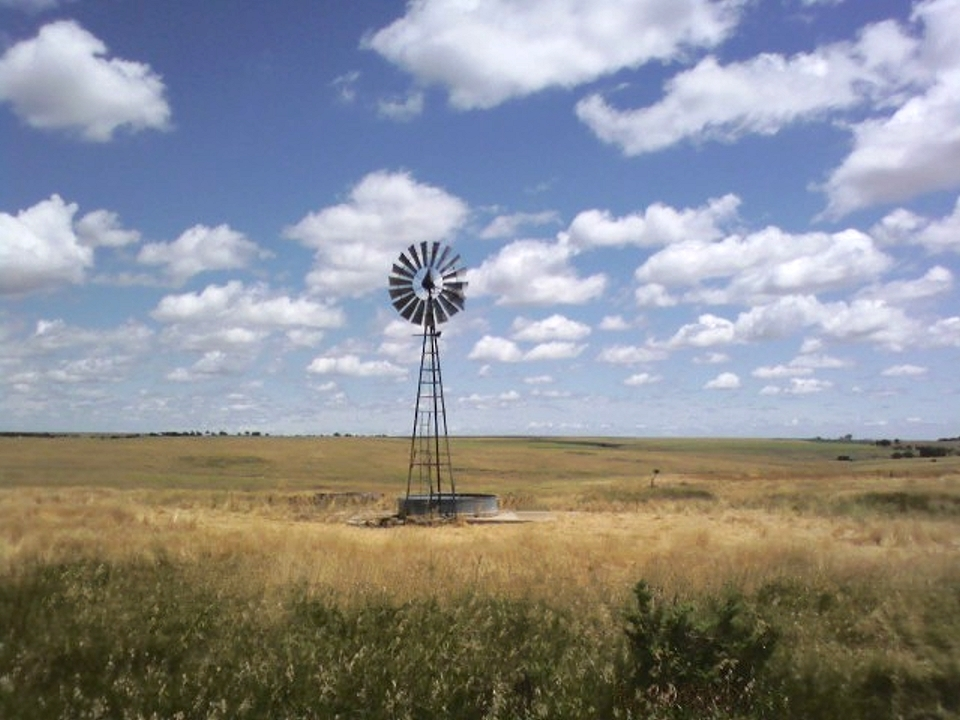 Windmill in Graham County's Solomon Valley